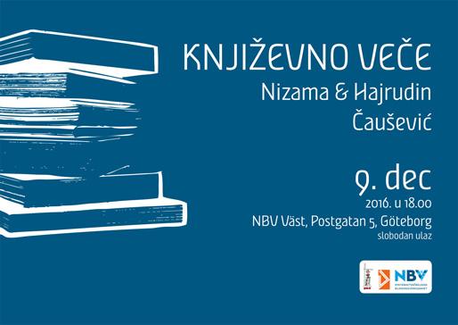 Književno veče s Nizamom i Hajrudinom Čauševićem