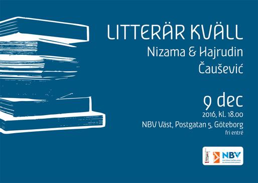 Litterär kväll med Nizama och Hajrudin Čaušević