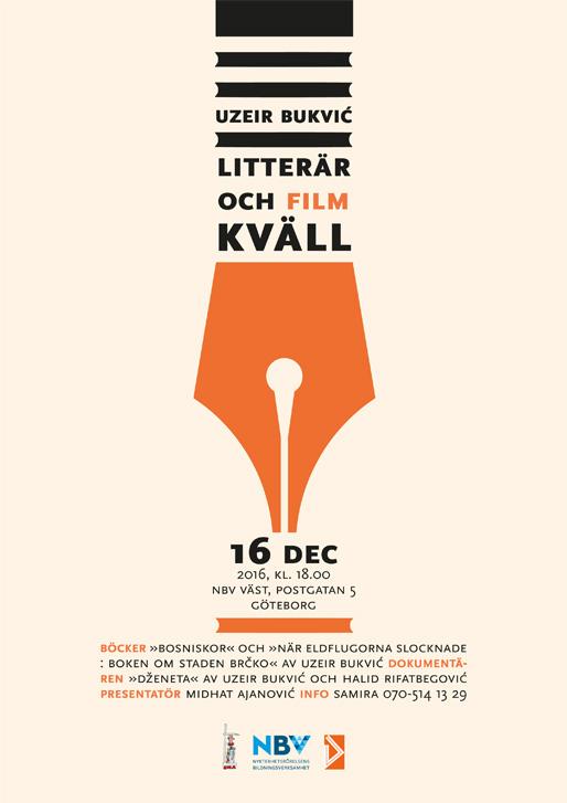 Litterär- och filmkväll med Uzeir Bukvić