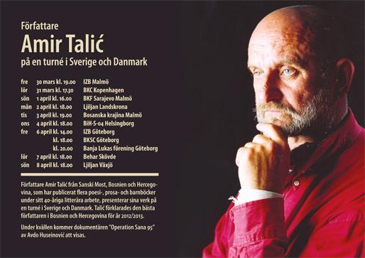 Författare Amir Talić på en turné i Sverige och Danmark