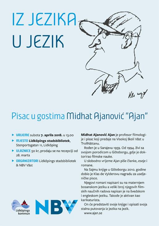 """Pisac u gostima Midhat Ajanović """"Ajan"""""""