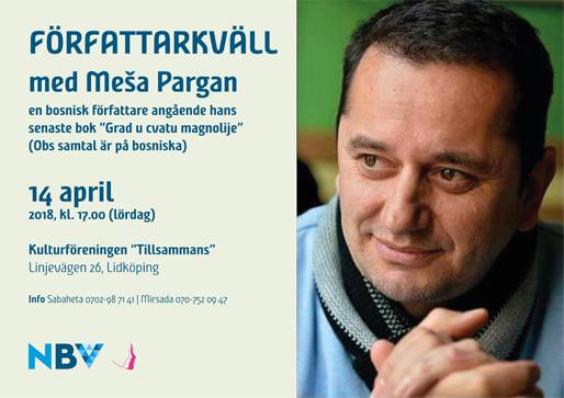 Författarkväll med Meša Pargan