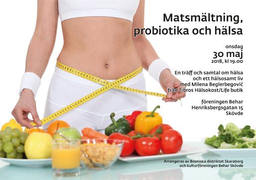 Matsmältning, probiotika och hälsa