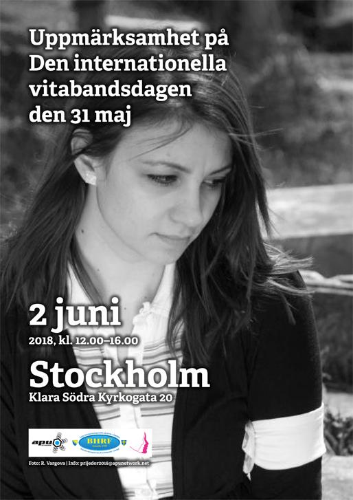 Uppmärksamhet på Den internationella vitabandsdagen 31 maj (Foto: R. Vargova)