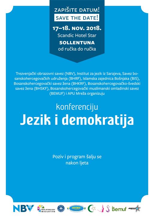 """Zapišite datum! – za konferenciju """"Jezik i demokratija"""""""