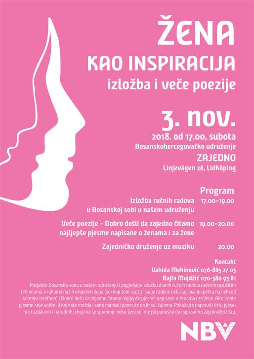 Žena kao inspiracija – izložba i veče poezije