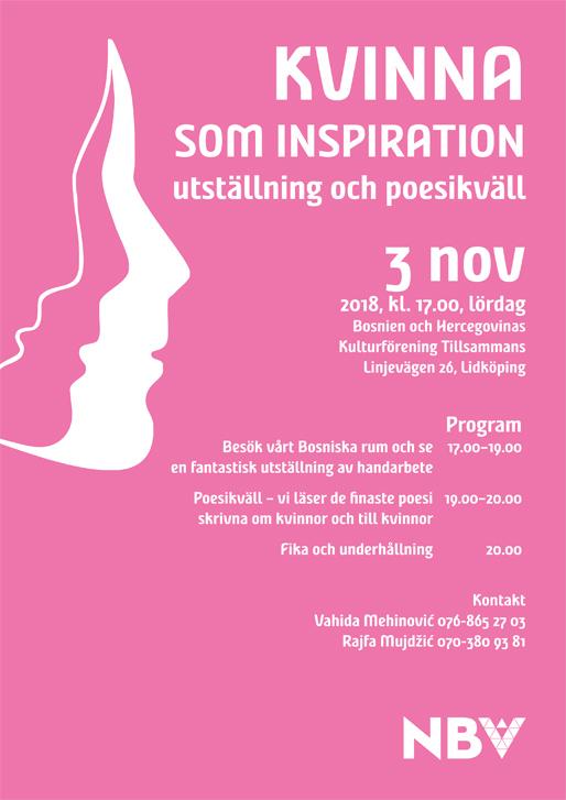 Kvinna som inspiration – utställning och poesikväll