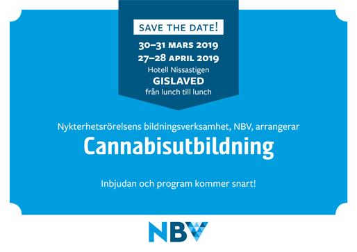 Save the Date! – för cannabisutbildning