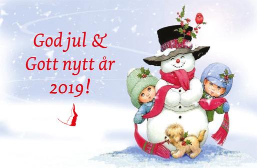 God jul och Gott nytt år 2019!