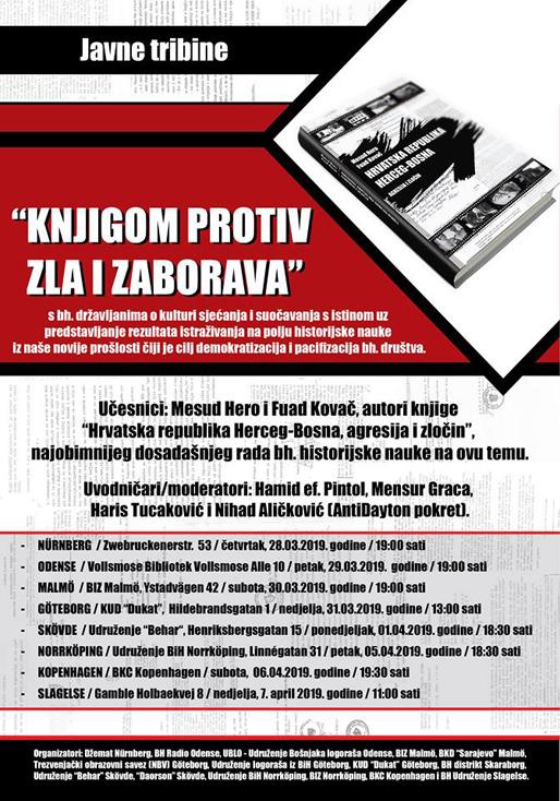"""Javne tribine """"Knjigom protiv zla i zaborava"""""""