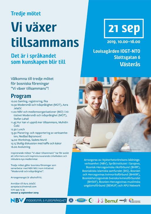 """Tredje mötet """"Vi växer tillsammans"""" i Västerås"""