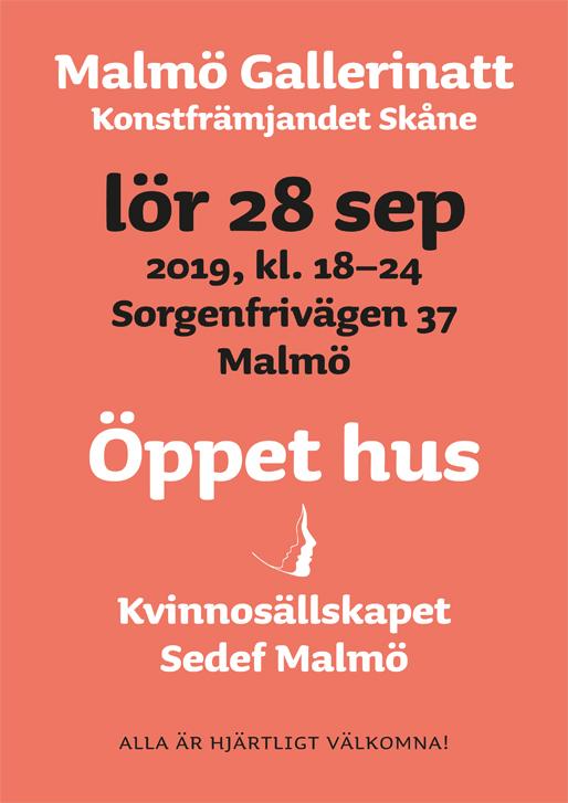"""Kvinnosällskapet """"Sedef"""" Malmö på Malmö Gallerinatt 2019"""