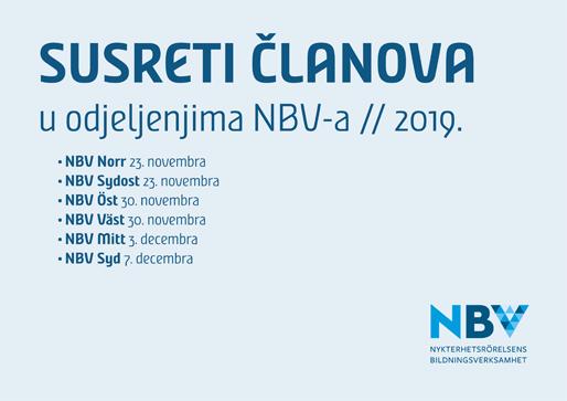 Susreti članova u odjeljenjima NBV-a