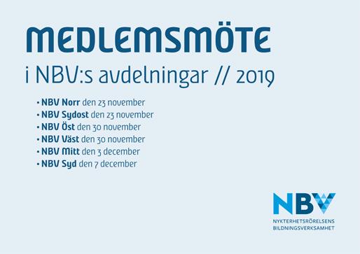 Medlemsmöte i NBV:s avdelningar