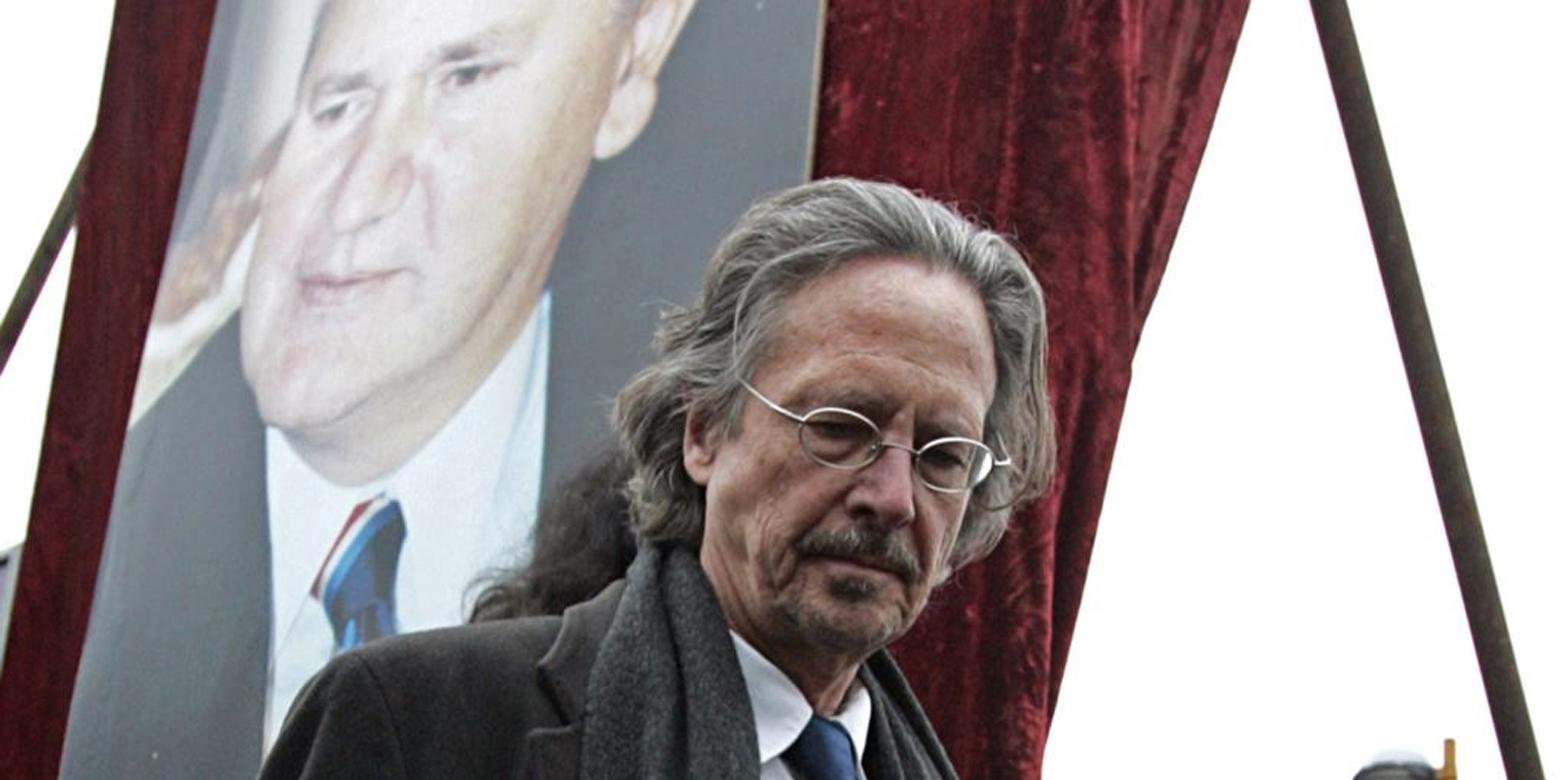 Manifestation mot tilldelningen av Nobelpriset till Peter Handke