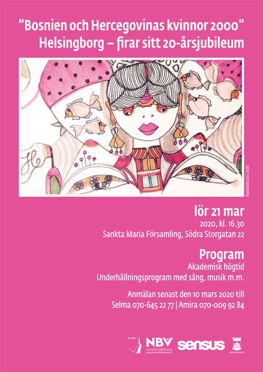"""""""Bosnien och Hercegovinas kvinnor 2000"""" Helsingborg – firar sitt 20-årsjubileum"""