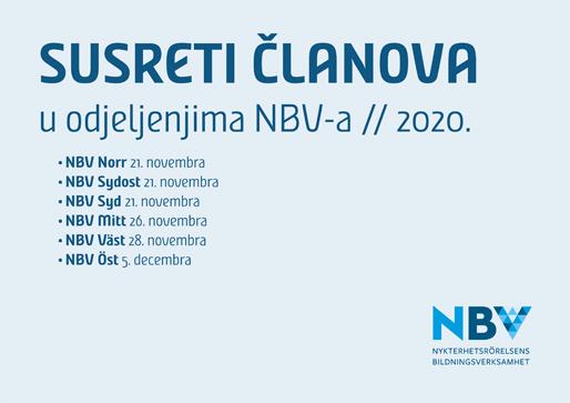 Susreti članova u odjeljenjima NBV-a 2020.