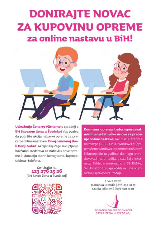 Donirajte novac za kupovinu opreme za online nastavu u BiH!