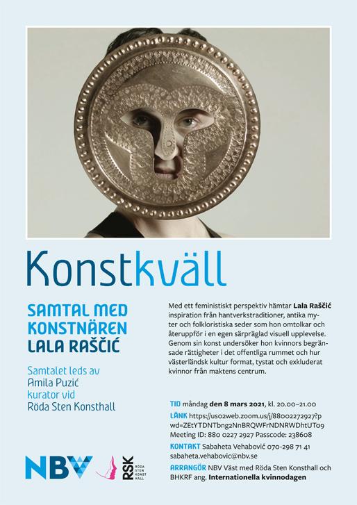 Samtal med konstnären Lala Raščić om hennes utställning på Röda Sten Konsthall i Göteborg