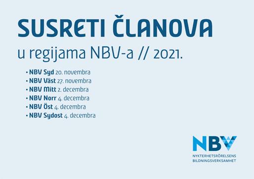 Susreti članova u regijama NBV-a 2021.
