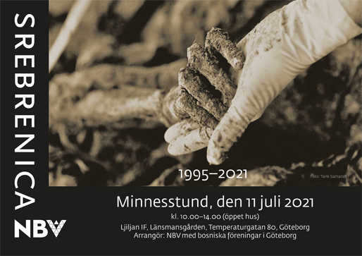 Minnesstund för offren för folkmordet i Srebrenica den 11 juli 1995