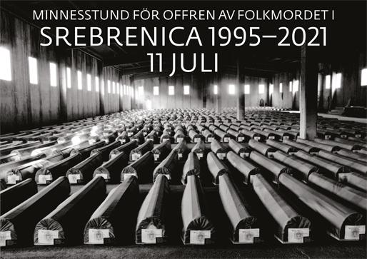 Minnesstund för offren av folkmordet i Srebrenica (Foto: Tarik Samarah)