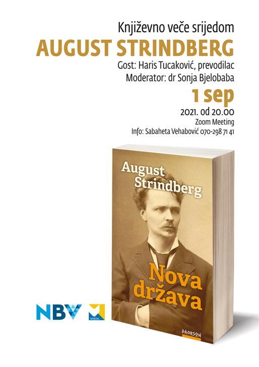 Književno veče srijedom: August Strindberg