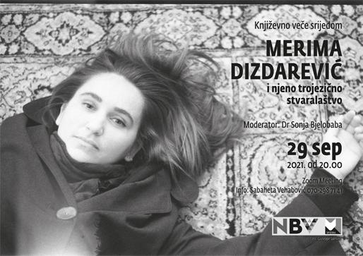Književno veče srijedom: Merima Dizdarević (foto: Giuseppe Sannino)