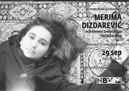 Litteraturkväll på onsdagar: Merima Dizdarević (foto: Giuseppe Sannino)