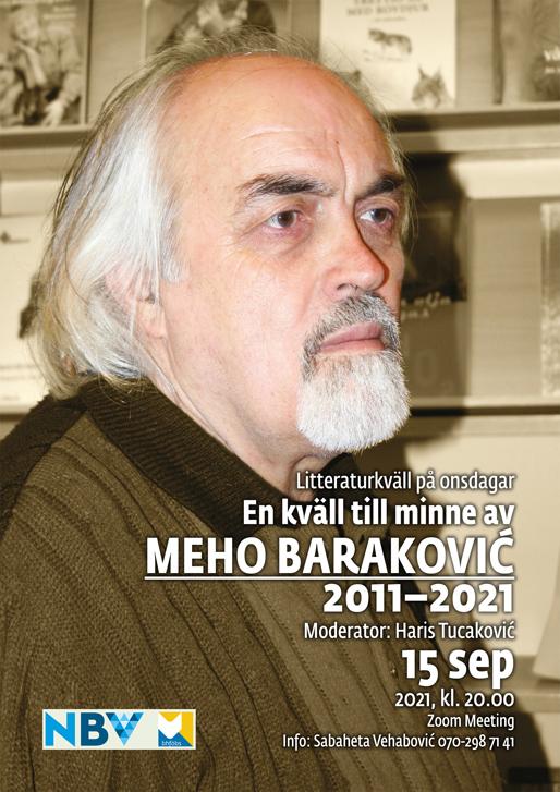 Litteraturkväll på onsdagar: En kväll till minne av Meho Baraković