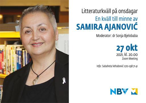 Litteraturkväll på onsdagar: En kväll till minne av Samira Ajanović
